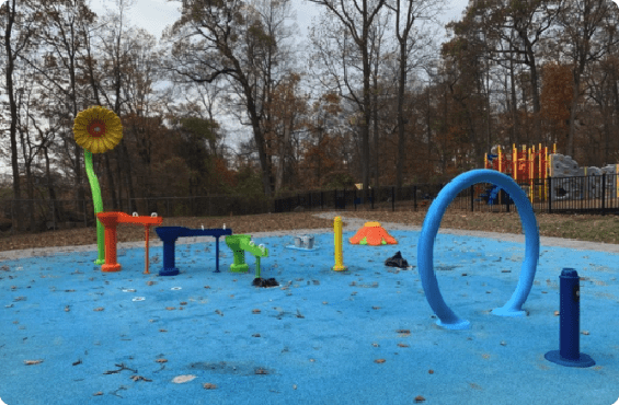 outdoor-water-park-shrink-wrapping-before