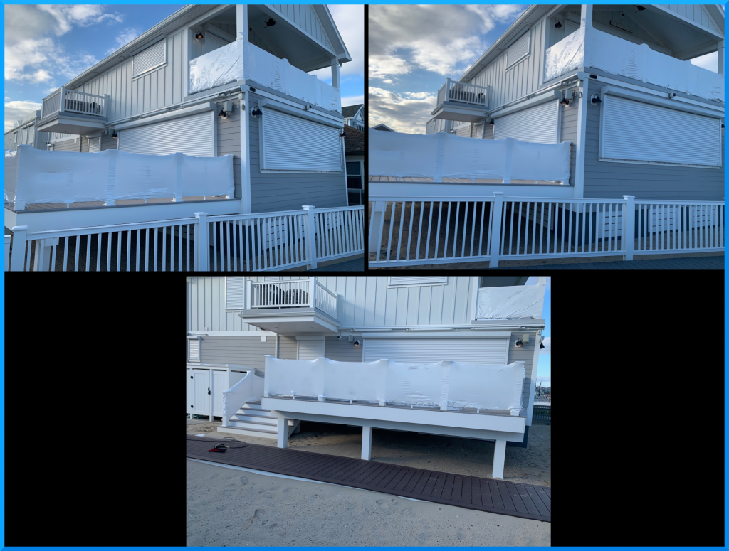 Point Pleasant Beach.. wire railings wrapped up for the winter