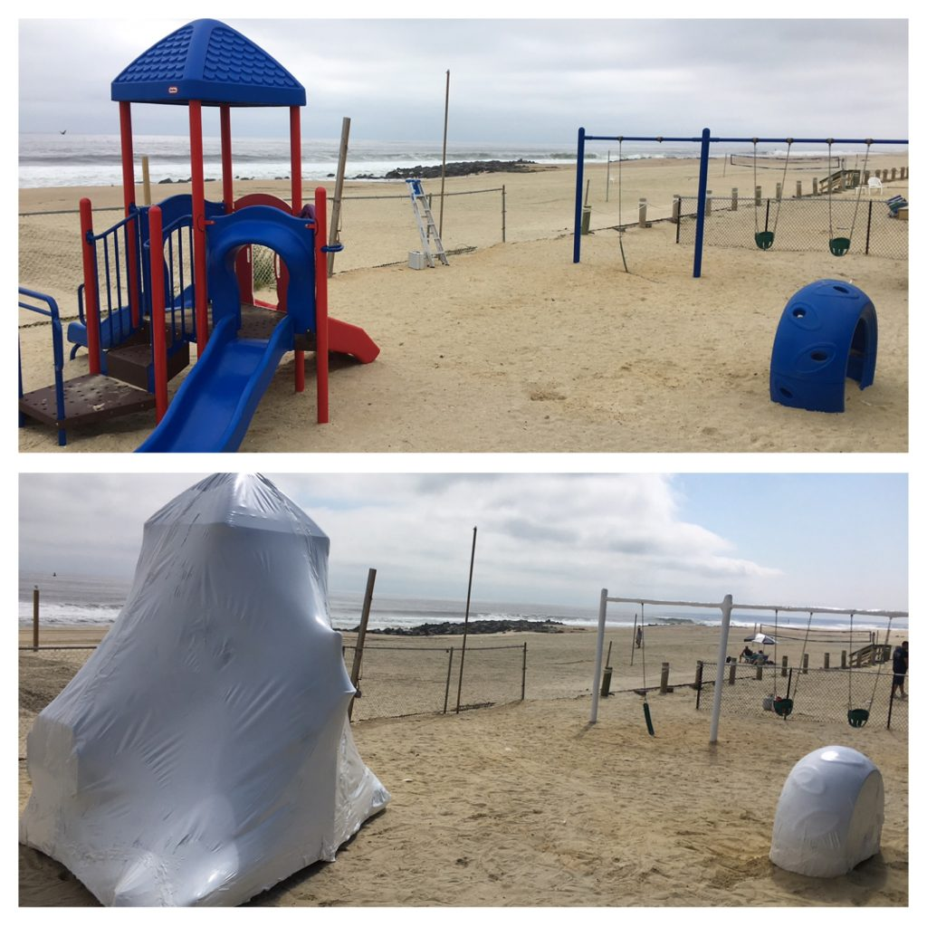 NJ Shrink Wrapping at work at Breakwater Beach Club in Long Branch, NJ